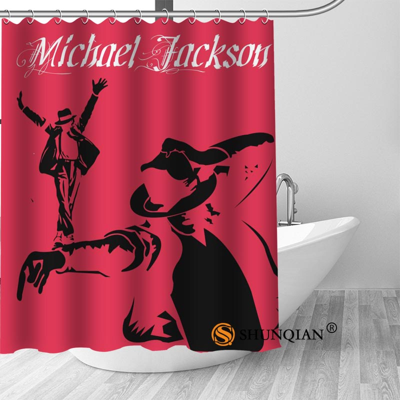 New Michael Jackson Shower Curtain Bathroom Decorations For Home Waterproof Fabric Bath A18.1.3-in Curtains from \u0026 Garden