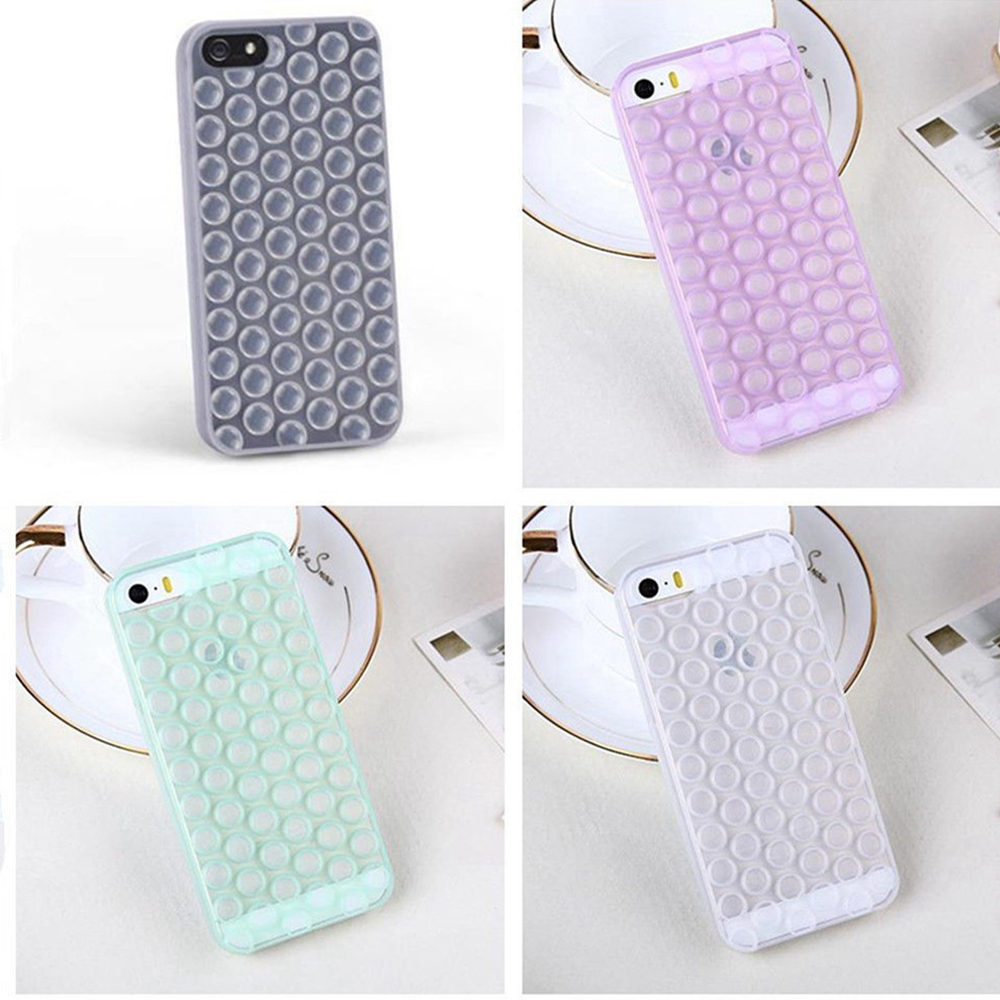 New Arrival Japan Relax Funny Decompression Puchi Bubble Wrap TPU Phone Back Cases Cover for iPhone 5 5S 6 6 Plus Capa EC776