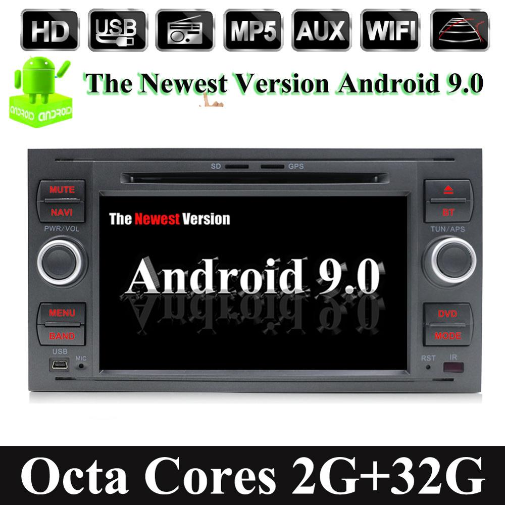 32G 2 Din Android 9.0 Octa 8 Core Car DVD Player GPS Navigation WIFI 4G for FORD S-Max Kuga Fusion Transit Fiesta Focus Camera image