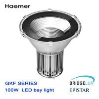 Высокое качество 100 Вт свет залива. HDT технологии. Резка современный дизайн светодиодные лампы добычи. 3 года гарантии. Haomer gkf серии код