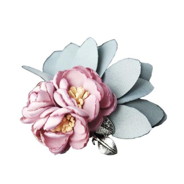I-Remiel ручной работы высокого класса Ткань искусство цветок брошь женские аксессуары пальто кардиган корсаж пальто булавки и броши леди ювелирные изделия