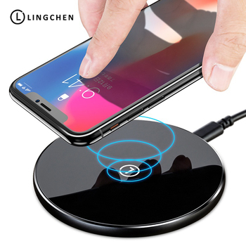 LINGCHEN 10W Qi Wireless Charger For Samsung Galaxy S8 S9 Fast Wireless Charging For iPhone 8 X XS Mobile Phone Wireless Charger