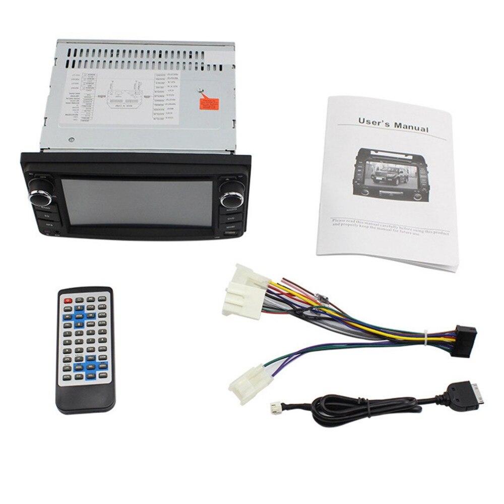 6.2 pouces universel Double Din dans le tableau de bord numérique DVD voiture affichage 7 couleur bouton lumière LED réglage pour Toyota