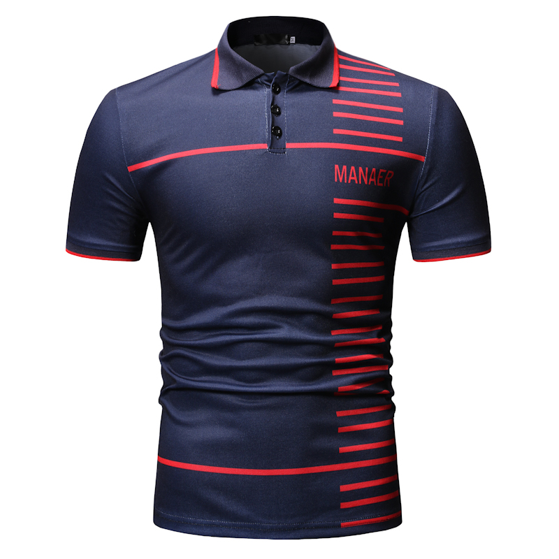 2019 new   POLO   shirt   polo   sport   POLO   shirt men's casual shirt color matching variety printing   POLO   shirt men's clothing