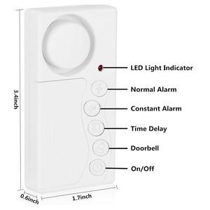 Image 2 - Wsdcam système dalarme de sécurité sans fil pour porte/fenêtre, délai, carillon pour déclenchement magnétique pour porte/fenêtre, pour bricolage