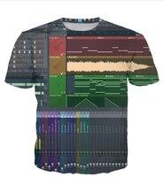 Latest Styles Men Women 3D Print Ableton Live T Shirt Fashion Clothing Summer Style Crewneck T