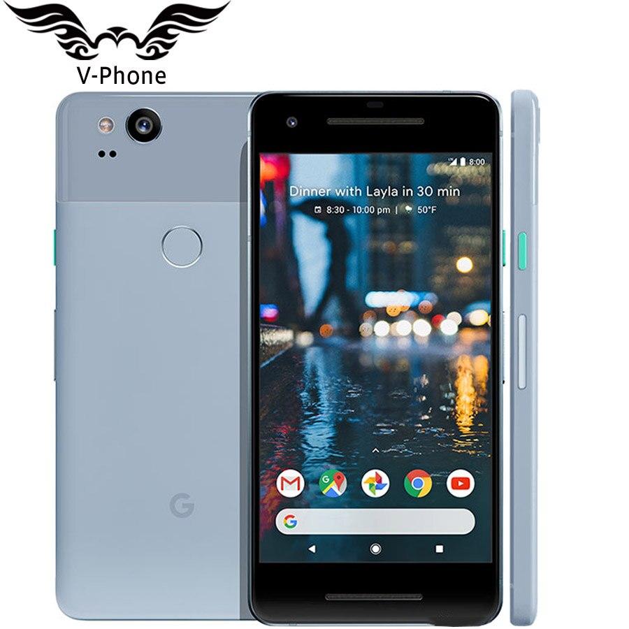 Оригинальный бренд новая версия США Google Pixel 2 4G LTE 6 4G B 128 ГБ 5,0 ''Snapdragon 835 Octa Core отпечатков пальцев Android мобильного телефона