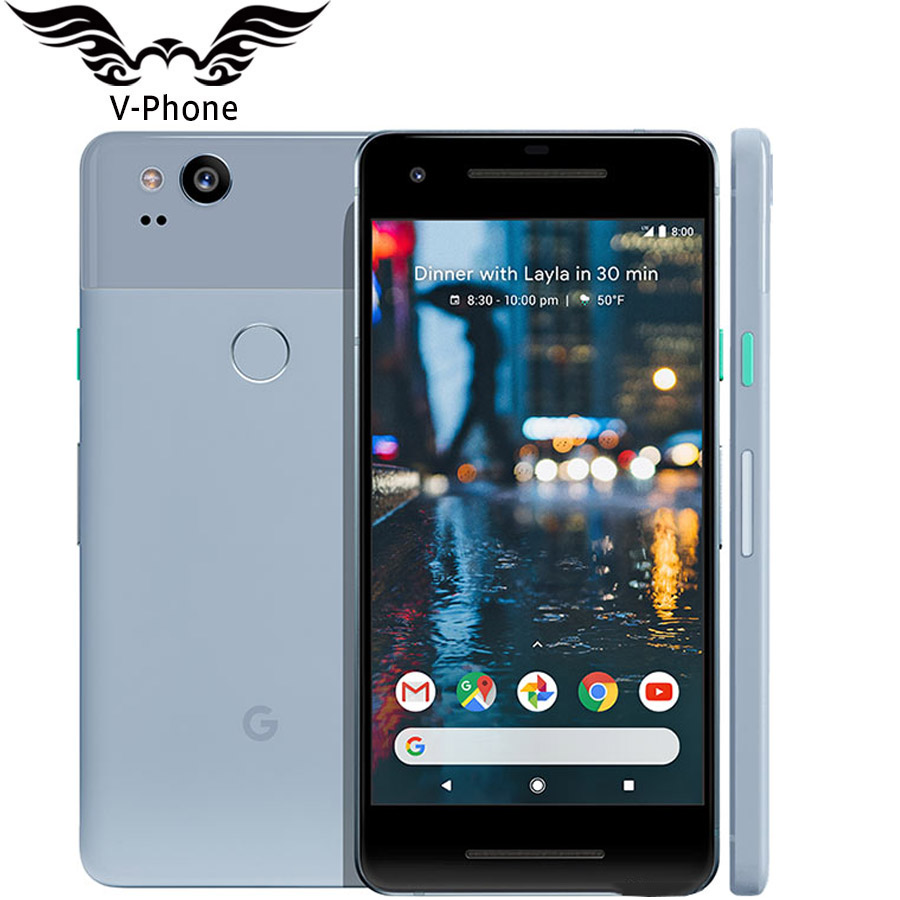 Original Marca NEW EUA Versão Google Pixel 2 4G LTE 64 GB 128 GB 5.0 ''Snapdragon 835 Octa de Impressão Digital núcleo Android telefone Móvel