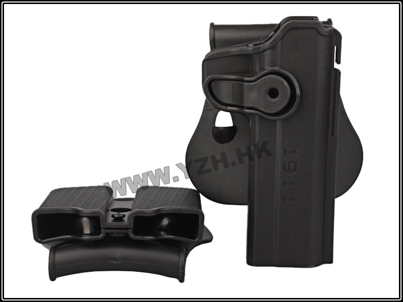 2017 Airsoft sports SIG Sauer Pistolera Imi Defense Polymer Retention Roto Holster with Double Magazine Fits 1911 Style BD6101