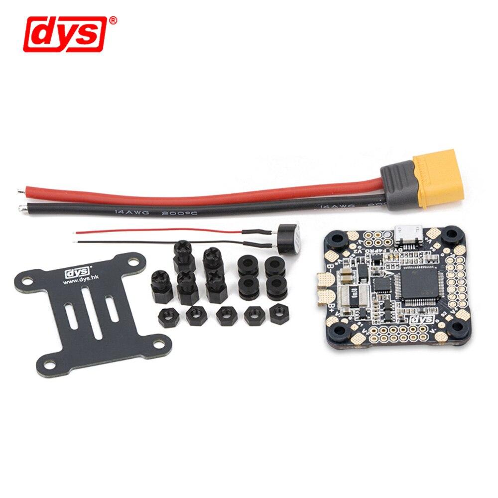 Contrôle de vol DYS F4 PRO V2 Betaflight avec 5 V/3A 9 V/1,2a BEC intégré circuit de protection intégré connexion de câble plat OSD