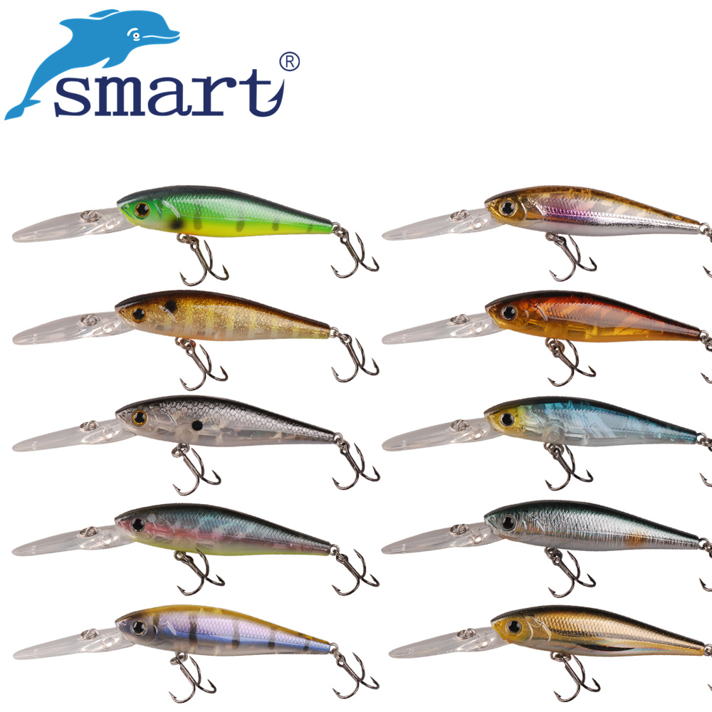 Smart Minnow Bait 65mm/6.2g Floating 2.5m Fishing Lures Hard Bait VMC Hook  Isca Artificial Pesca Leur SwimBait Fishing Tackle wldslure 1pc 54g minnow sea fishing crankbait bass hard bait tuna lures wobbler trolling lure treble hook