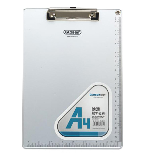 1 piece New A4 31.5x22.5cm Aluminum Clipboard for Paper School Office Stationery Supplies