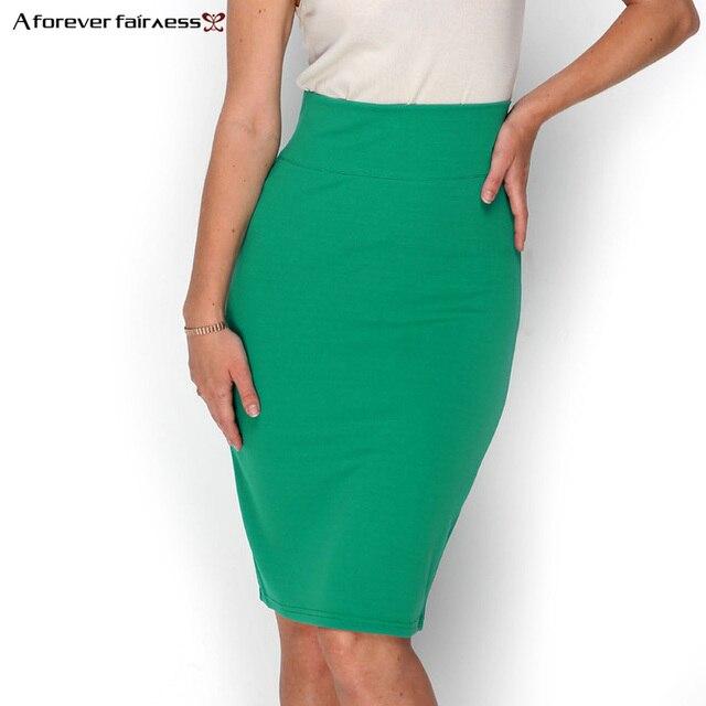 Навсегда 2018 Лидер продаж Для женщин юбка-карандаш с Высокая Талия плотно Офис юбка модные тонкие Повседневное Вышивка Крестом Пакет бедра юбка aff662