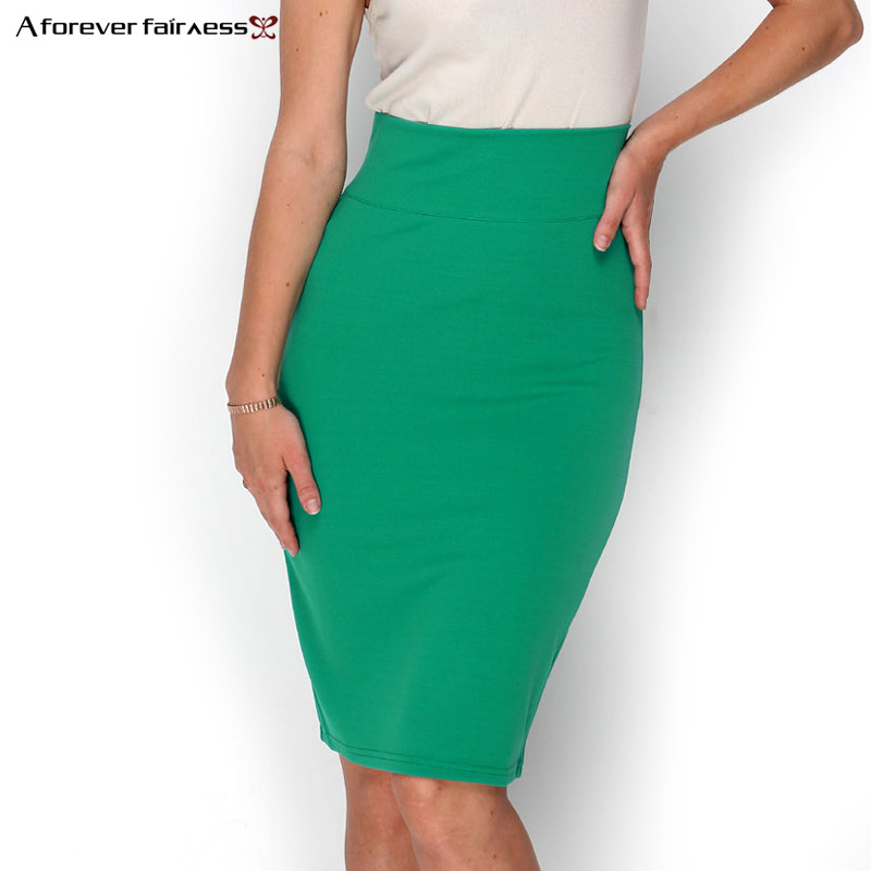 A Forever 2019 Hot Sale Women Skirt Pencil Skirt With High Waist Tight Office Skirt Fashion Slim Casual Package Hip Skirt AFF662