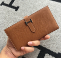 Luxury Brand Designer Genuine Leather Women Organizer H Buckle Wallets Purses Ladies' Long Wallet For Women Woman Wallet