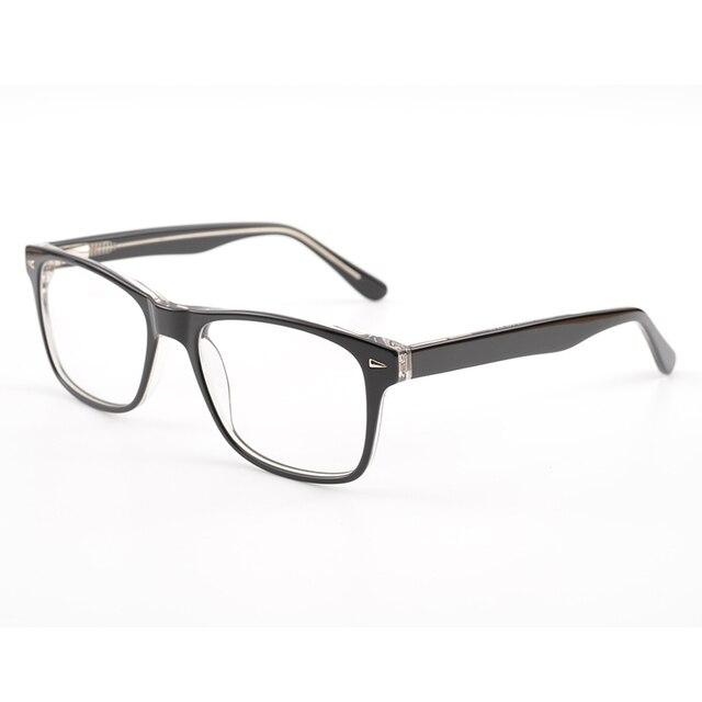 6985be60795 2017 Hot Sell Acetate Men Clear Lens Eyewear New Luxury Brand Designer Men  Eyeglasses Frames Male s Glasses oculos