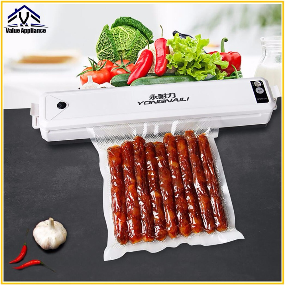 Food Vacuum Sealer High Quality Food Preservation Packaging Machine Film Sealer Vacuum Packer with 30Pcs Bags household vacuum food sealer packaging machine 220v film sealer vacuum packer with 10 bags