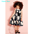 Humor Bear NEW 2016 bowknot Baby Girl clothes  Dress For Infant Floral Princess Dress Children's Dresses kids Clothing