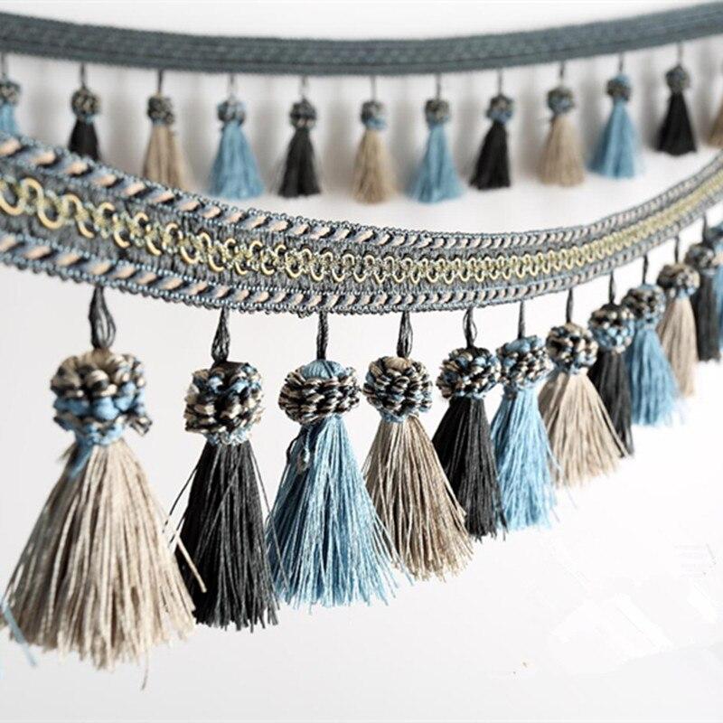 6 M/lot 11 cm de large coloré gland rideau dentelle accessoires draperie franges ruban d'habillage bricolage couture maison Textile décor tissus
