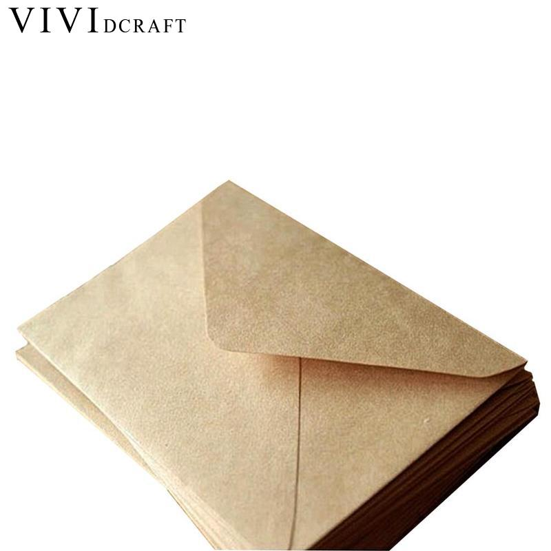 Vividcraft Wedding Birthday Party 100pcs/Pack New Vintage Diy Multifunction Kraft Paper Envelope 16*11cm Gift Card Envelopes new arrival 22 11cm 15 style 15pcs elegant diy writting envelope love letter supplies classic design letters pad