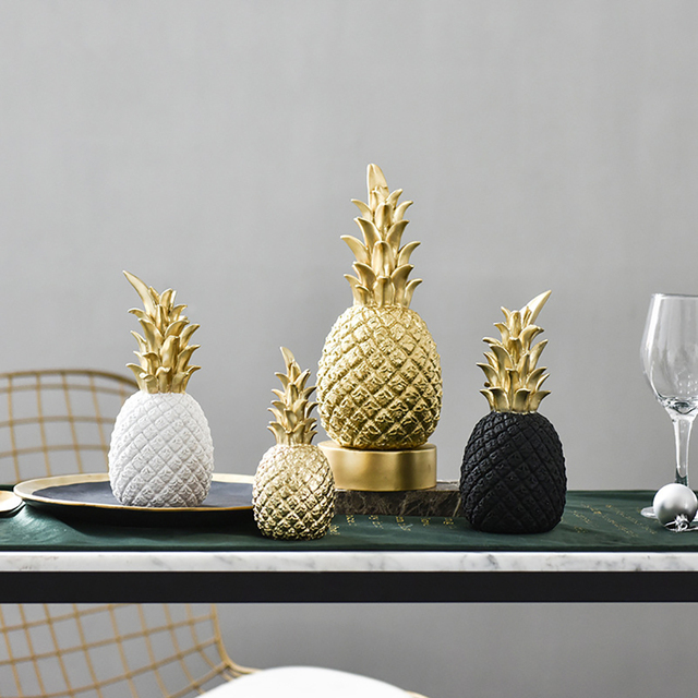 Nordic Modern Pineapple Fruit Living Room Wine Cabinet Window Desktop Home Decor Table Decoration Crafts Fashion 2