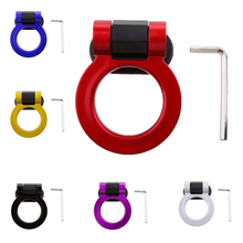 Racing Tow Hook Ring for Car SUV Front Rear Bumper Decoration ONLY ABS Plastic Apply Onto Bumper abs metal colorful tow hook allen wrench car auto trailer decorative tow hook universal for truck suv front bumper automotive