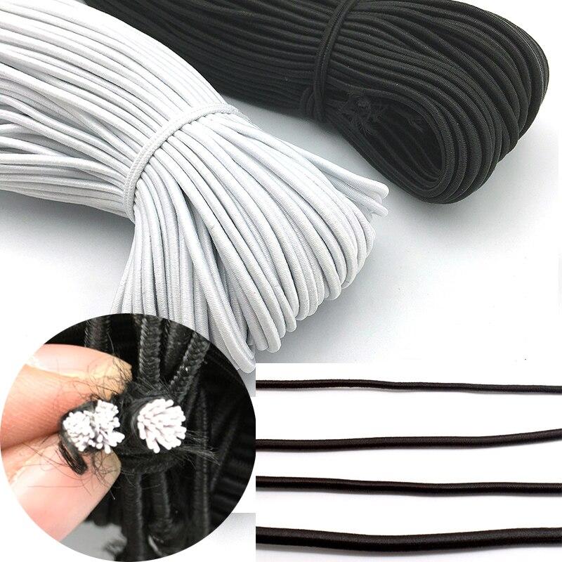 Cuerda Elástica Bungee Shock Redondo Elástico Cuerda Craft Negro 2.5mm Coser Craft