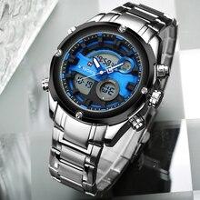 NAVIFORCE Men's Brand Sports Watches Luxury Digital Quartz Analog Dual Time Watch Men Waterproof Wristwatches Relogio Masculino
