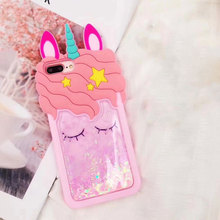 Glittering 3D Unicorn Phone Case for iPhone