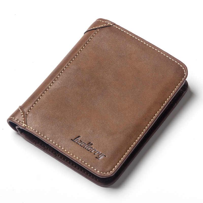 700e218e4 Cartera Vintage de alta calidad para hombre, cartera corta multifunción,  carteras de tarjetas de