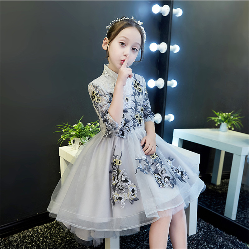 New Luxury Flowers Girl Dresses for Wedding Birthday Party Ball Gown Knee Length Kids Pageant Dress Costume Ball Gown ClothesNew Luxury Flowers Girl Dresses for Wedding Birthday Party Ball Gown Knee Length Kids Pageant Dress Costume Ball Gown Clothes
