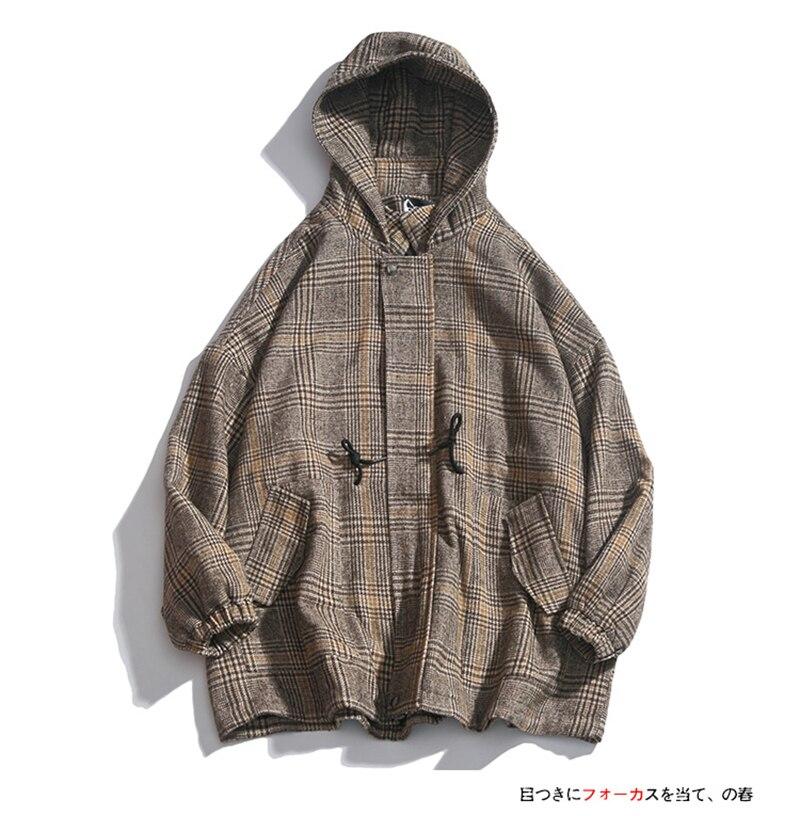 Male Long Coat Oversize Lapel Button Sobretodos Hombre Overcoat Streetwear (6)