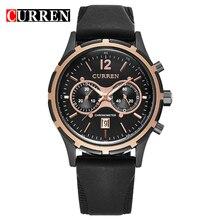 Venta caliente de Los Hombres Reloj de Pulsera de Cuarzo CURREN Relojes de Marca Negocio de La Moda Reloj Correa de Silicona Reloj Hombre Relojes