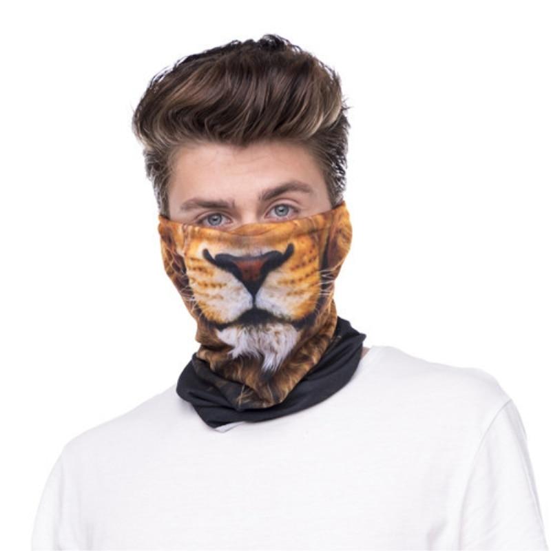 Animal Print Bandana Bike Motorcycle Tube Neck Face Mask magic Headscarf Helmet Headband Bandanas tiger lion dog zebra shark new