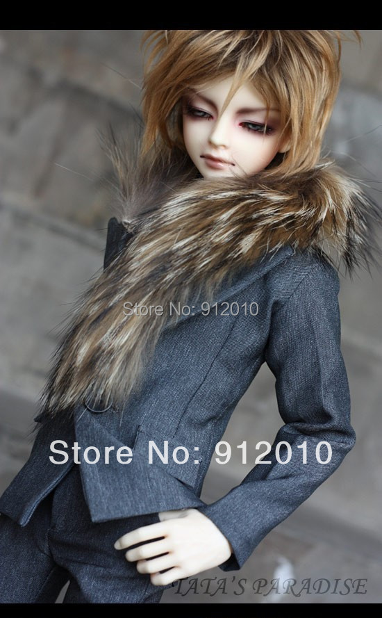 ФОТО Breast of Night Fur Collar Man Suit for BJD 1/4 1/3 SD17 Uncle,SSDF,Spirit Ver.2 BJD Doll Clothes