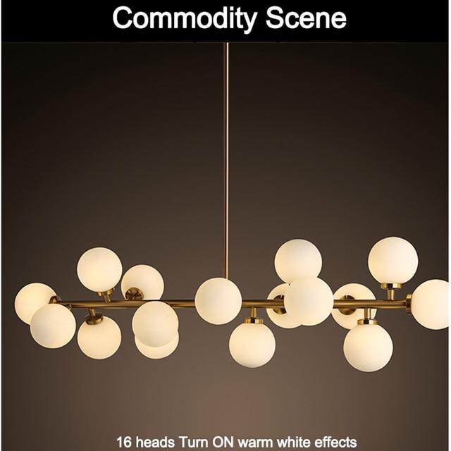 US $178.58 |Moden kunst pendelleuchte gold/schwarz magische bohne led lampe  wohnzimmer esszimmer shop led striplight glas pendelleuchte leuchten in ...