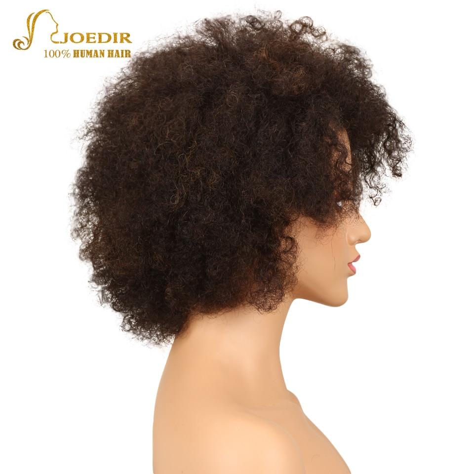 Joedir Human Hair Wigs Brazilian Afro Kinky Curly Wig Sassy Curl Hair Wig Color FW2/30 Short Wigs For Black Women Free Shipping