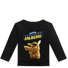 все цены на Z&Y 2-16Y Fashion Pokemon Detective Pikachu T-shirts Kids Shirts Boys T Shirts Girls Long Sleeve Tops 2019 Casual Streetwear