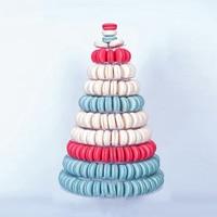 10 Tiers Macaron Display Stand Round Rack Wedding Birthday Cake Decorating Tools Macaron Tower Cake Stand PVC Tray Display