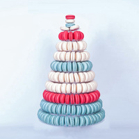 New 10 Tiers Macaron Display Stand Round Rack Wedding Birthday Cake Decorating Tools Cakecup Tower Stand PVC Tray Display 2019