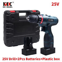 25V Cordless Electric Drill Lithium Battery 2 Cordless Screwdriver Double Speed Electric Screwdriver Power Tools