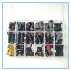 Image 3 - High quality one set SAE Fuel Urea pipe tube fittings auto Fuel line quick connector kit whole set total 80pcs for car