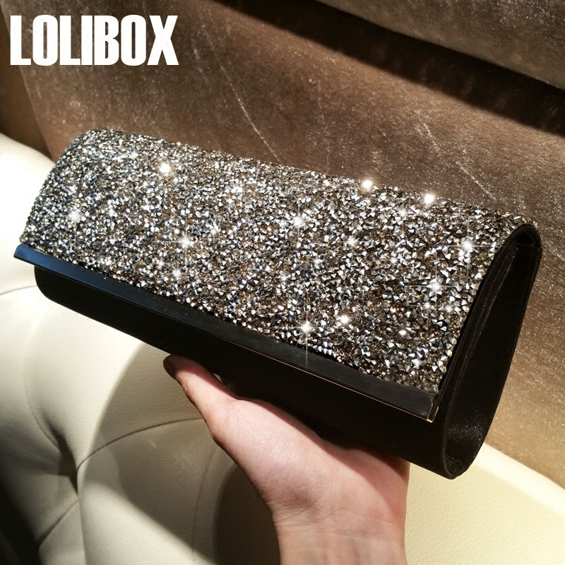 Drill Splicing Satin Long Flash Clutch Bag High Quality Ladies Evening Clutch Bags Women Hand Bag Dress For Party Day Clutches moccen evening handbag ladies clutch bag luxury women handbags designer day clutches high quality purses hand bag shoulder bags