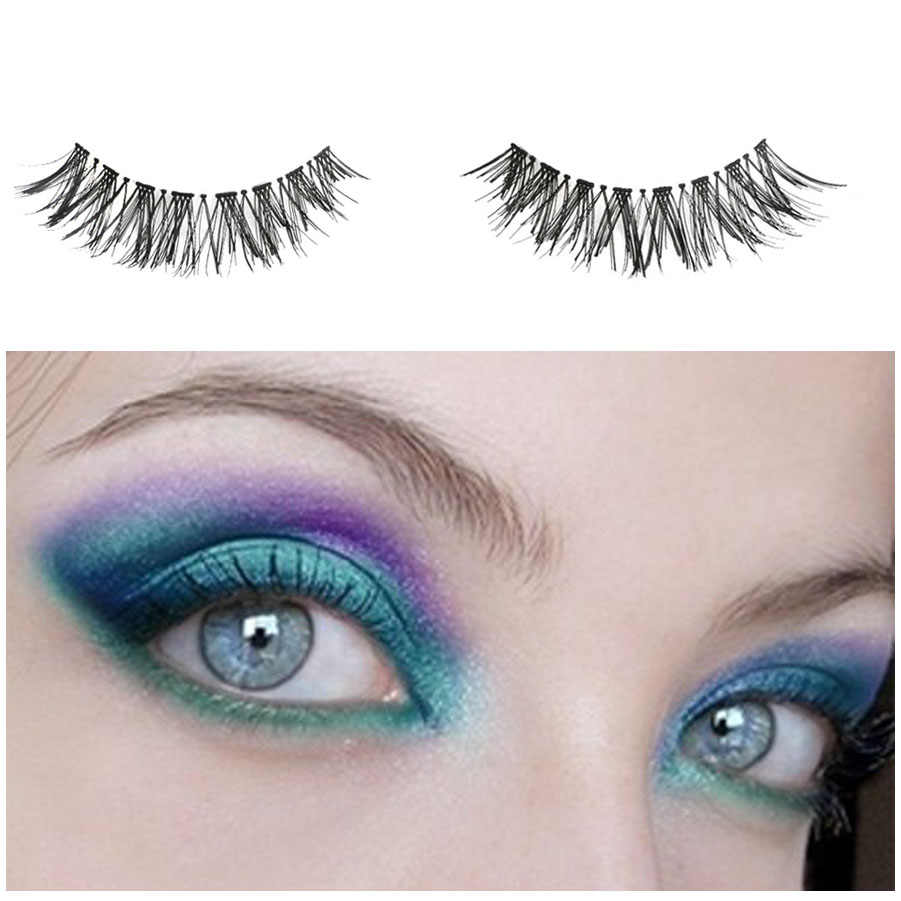 5 Pasang Mata Alami Bulu Mata Kecantikan Makeup Mini Setengah Sudut Hitam Bulu Mata Palsu Wanita Kecantikan Mata Makeup Ekstensi Alat Panas