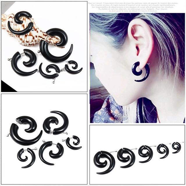 1 piece Personality Punk Acrylic Black Snail Shape Earrings For Men Women Rock Party Jewelry.jpg 640x640 - 1 piece Personality Punk Acrylic Black Snail Shape Earrings For Men / Women Rock Party Jewelry