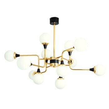 מודרני קסם שעועית נברשת זכוכית כדור LED מנורת מתכת זכוכית 12 ראשי בית תאורה לחדר שינה אמנות השעיה נברשת G813