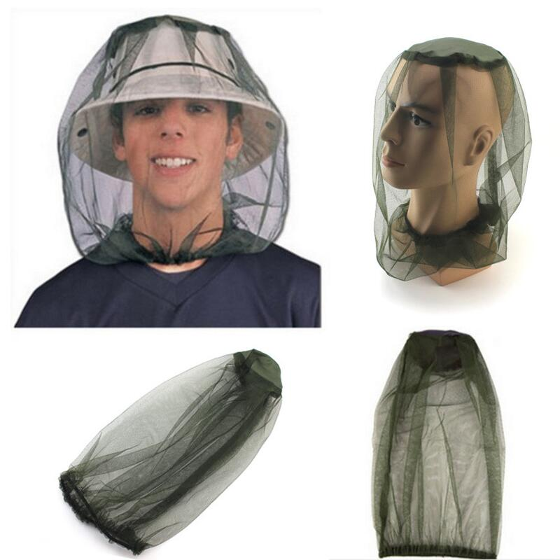 Portable Outdoor Midge Mosquito Insect Hat Bug Mesh Head Net Face Protector Travel Camping On Foot