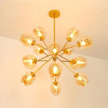 Nordic modern iron herringbone branch pendant light glass ball bubble living room restaurant bedroom bar hanging lighting E27