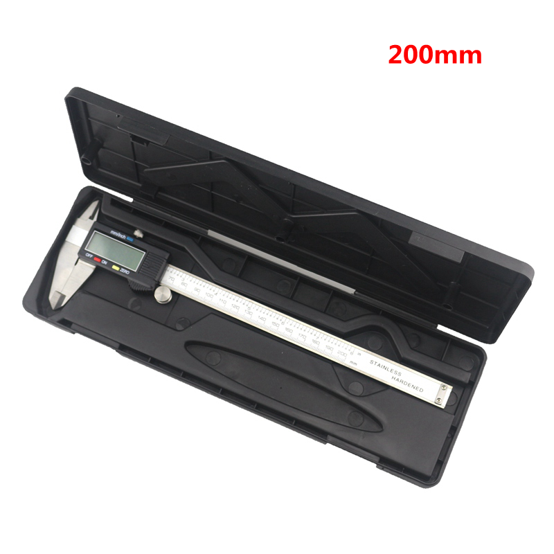 0.01mm Accuracy  LCD Digital  Vernier Caliper 200mm 8inch  Diagnostic-tool Stainless Steel Calipers   with Case free shipping high quality digital display calipers 0 200mm 0 8inch digital vernier caliper
