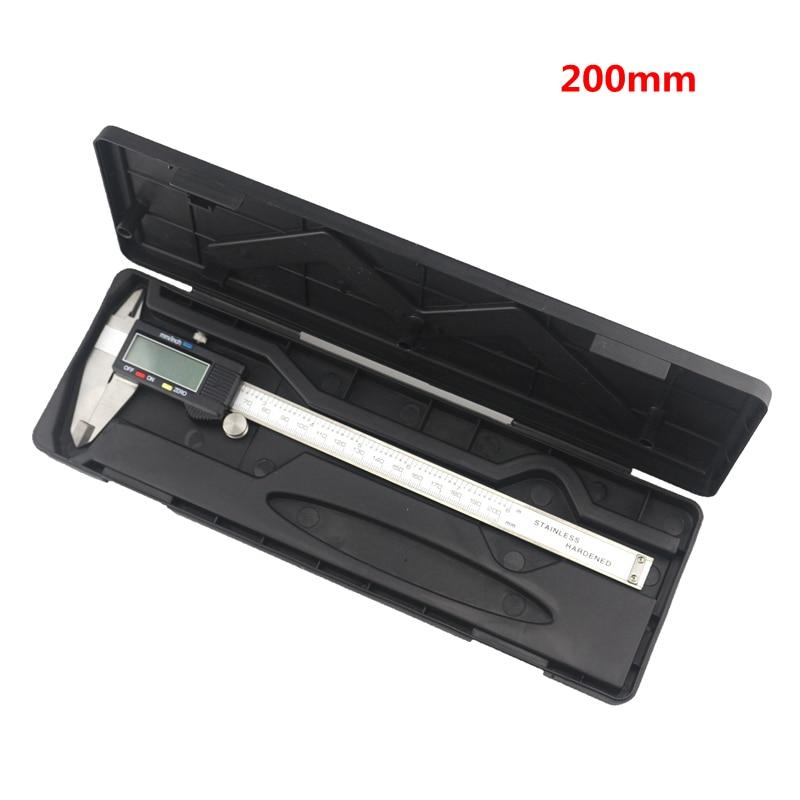 0.01mm Precisione LCD Digital Vernier Caliper 200mm 8 pollici Diagnostico-utensili In Acciaio Inox Pinze con il Caso